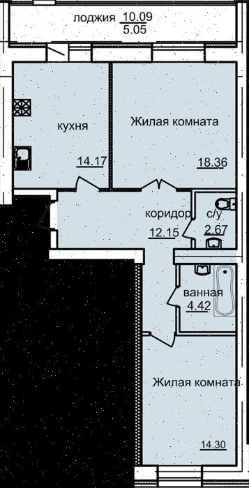 Продажа 2-к квартиры ул. Дубравная, д. 2Д
